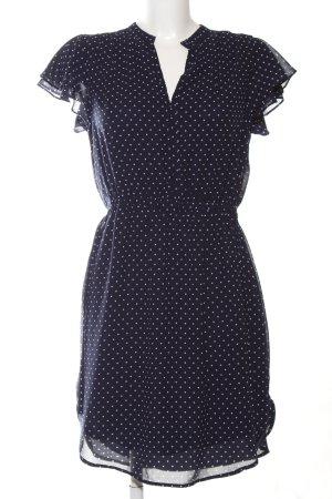 H&M Vestido estilo flounce negro-blanco estampado a lunares look casual