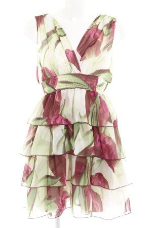 H&M Abito a balze motivo floreale elegante
