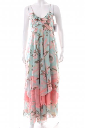 H&M Flounce Dress floral pattern layered look