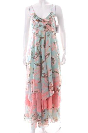 H&M Volantkleid florales Muster Lagen-Look