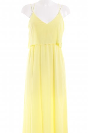 H&M Volantkleid gelb Elegant