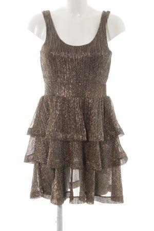 H&M Volante jurk gestippeld elegant