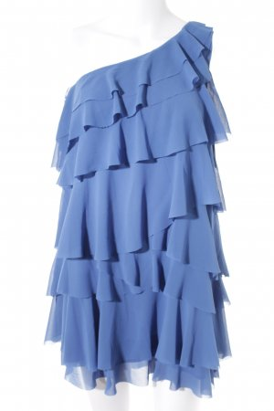 H&M Flounce Dress neon blue elegant