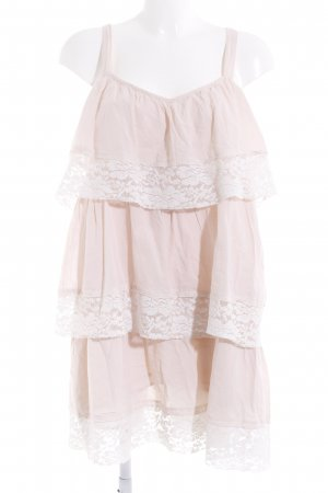 H&M Flounce Dress nude-white casual look