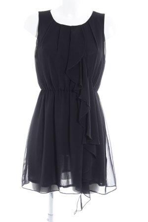 H&M Volantkleid schwarz Elegant