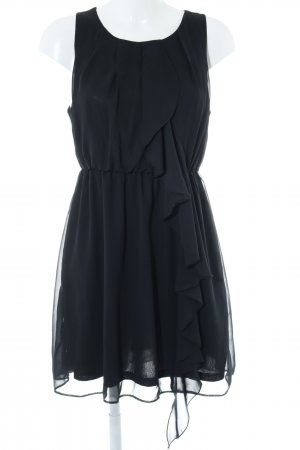 H&M Volantkleid schwarz Party-Look