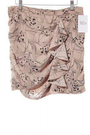 H&M Flounce Skirt apricot-black abstract pattern business style