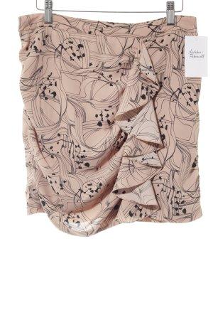 H&M Gonna a balze albicocca-nero motivo astratto stile professionale