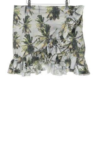 H&M Jupe à volants motif de fleur style décontracté