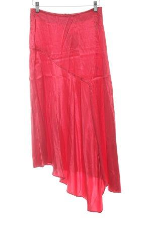 H&M Falda con volantes rojo elegante