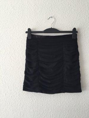 H&M Volantrock schwarz 38