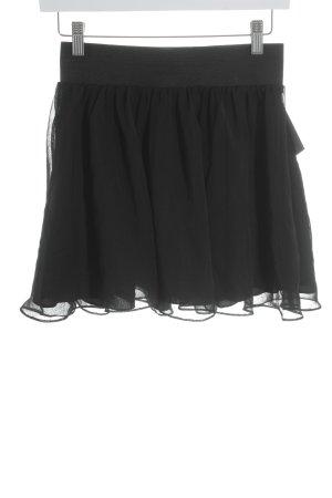 H&M Volantrock schwarz Elegant
