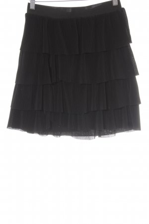 H&M Flounce Skirt black striped pattern Paris-Look