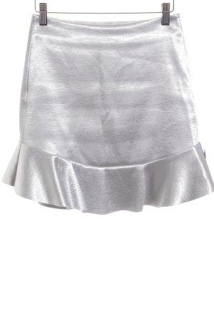 H&M Jupe à volants argenté style mouillé