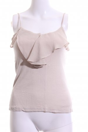 H&M Flounce Top natural white casual look