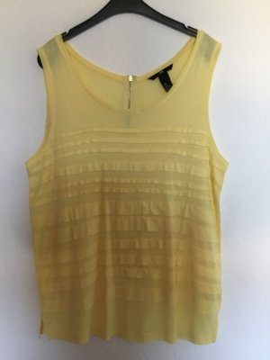 H&M Flounce Top pale yellow-primrose