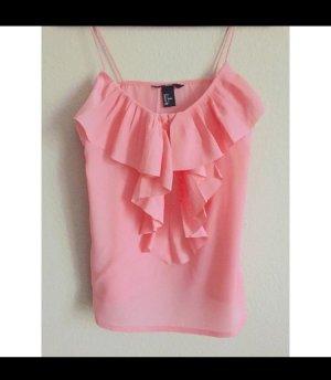 H&M Volanttop pink