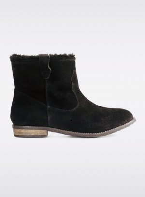 H&M Snow Boots black leather