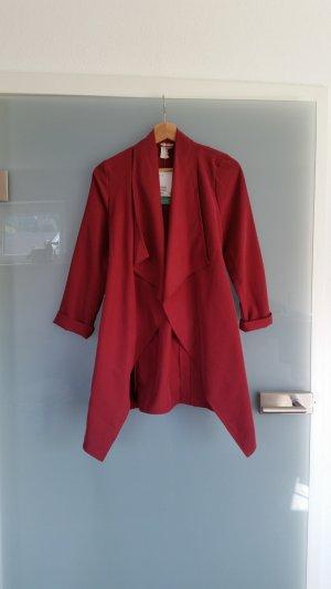 H&M Wasserfall Mantel rot Neu mit Etikett 32
