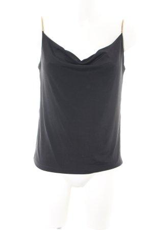 H&M Cowl-Neck Top black party style