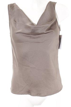 H&M Top collo ad anello grigio scuro elegante