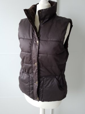 H&M L.O.G.G. Quilted Gilet dark brown