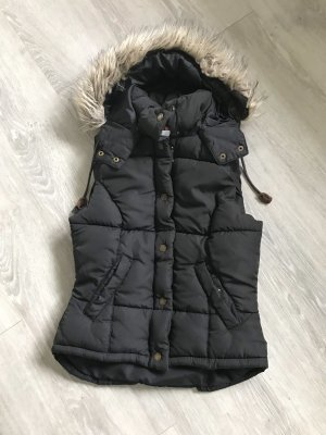 H&M Hooded Vest black