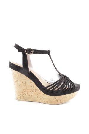 H&M Wedges Sandaletten schwarz Casual-Look