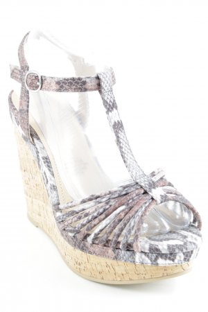 H&M Wedge Sandals abstract pattern elegant