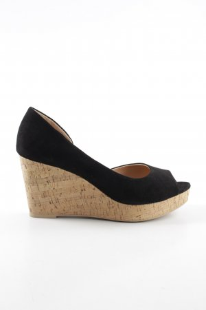 H&M Wedge Sandals black business style
