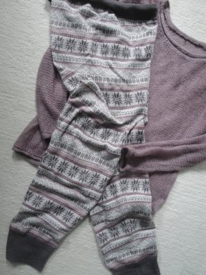 H&M*Weekender Jogger*rosa-taupe Norweger Jaquard*XS=34/36