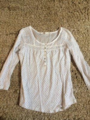 H&M, weiß, Longsleeve, Shirt, S, 36