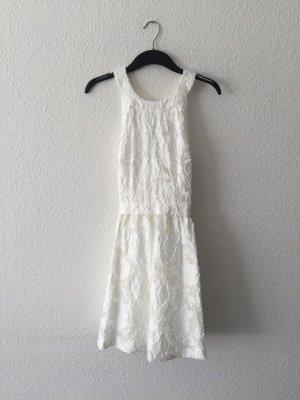 H&M weißes Kurzkleid überkreuzte Träger 36
