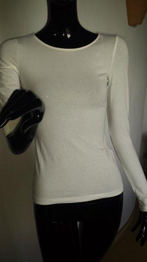 H&M weißes Langarmshirt, Neu Gr.XS