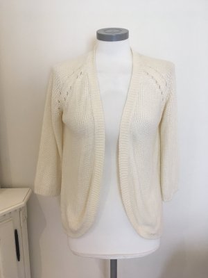 H&M Coarse Knitted Jacket natural white mixture fibre