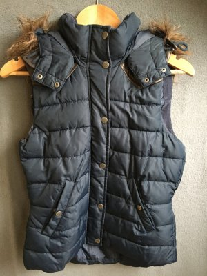 H&M L.O.G.G. Capuchon vest donkerblauw-donkerbruin