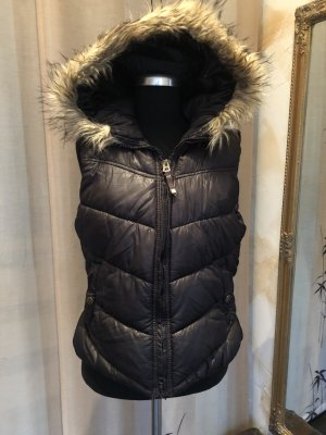 H&M Divided Hooded Vest black