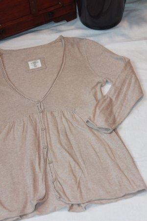 H&M Smanicato lavorato a maglia crema