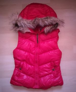 H&M Divided Hooded Vest red polyester