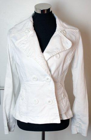 H&M Blazer en jean blanc cassé