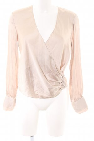 H&M Wikkelblouse wolwit casual uitstraling