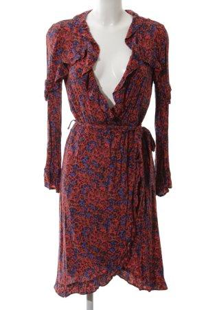 H&M Wickelkleid rot-blau Blumenmuster Elegant