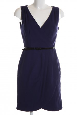 H&M Wickelkleid blau Business-Look