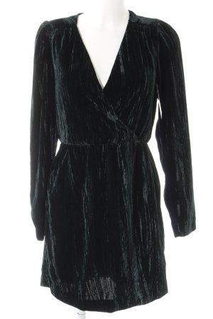 H&M Robe portefeuille vert foncé style décontracté