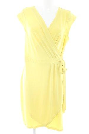 H&M Wickelkleid gelb extravaganter Stil