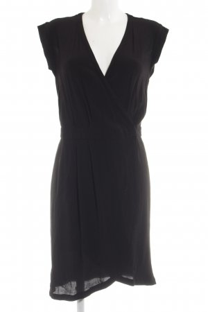 H&M Wickelkleid schwarz Business-Look