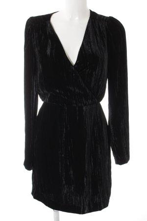 H&M Robe portefeuille noir style décontracté