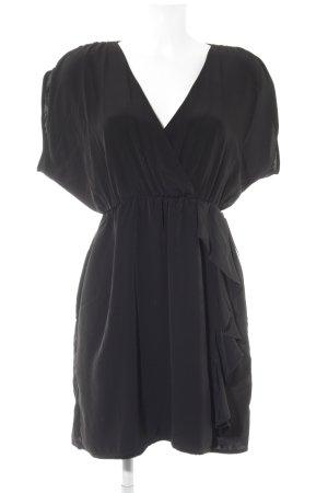 H&M Vestido cruzado negro elegante