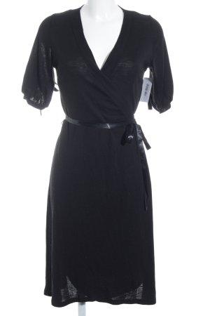 H&M Wickelkleid schwarz schlichter Stil