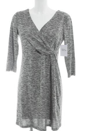 H&M Wickelkleid schwarz-weiß meliert Casual-Look